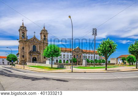 Igreja Do Populo Catholic Church Neoclassical Building And Convento Do Populo Monastery In Braga Cit