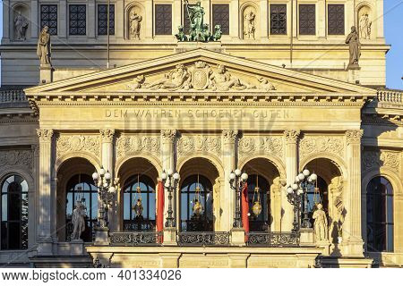 "Facade Of Opera House ""alte Oper Frankfurt"