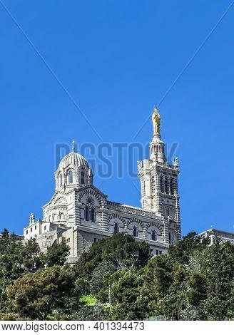Notre Dame De La Garde In Marseille, France
