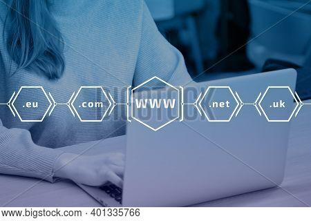 Www - World Wide Web With Popular International Domains