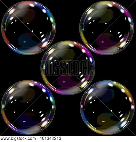 Soap Bubble Ball Soap Glitters Shimmers Round Beautiful Transparent  Children's Toy Attractive Color