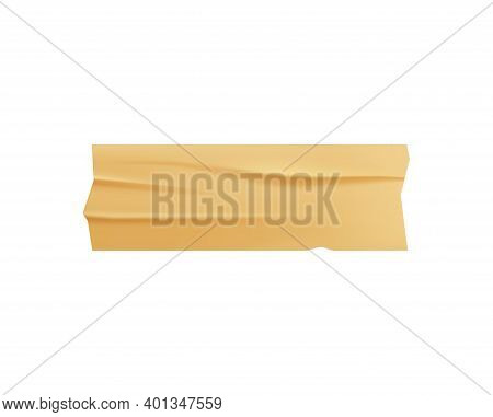 Sticky Adhesive Tape Realistic With Tape Of Golden Colors Vector Illustration