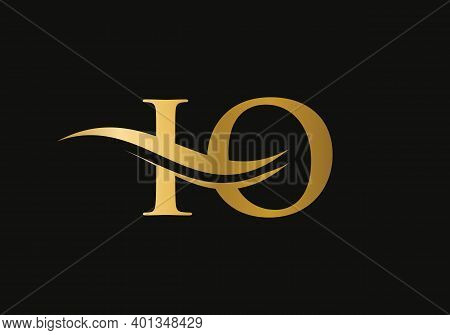 Water Wave Io Logo Vector. Swoosh Letter Io Logo Design For Business And Company Identity.