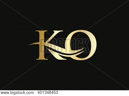 Ko Linked Logo For Business And Company Identity. Creative Letter Ko Logo Vector With Modern Trendy