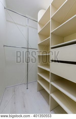 Wardrobe Room In A New Apartment..