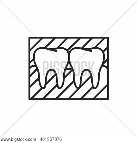 Tooth Snapshot Color Line Icon. Pictogram For Web Page, Mobile App, Promo.