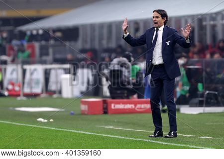 Milano, Italy. 23th December 2020. Simone Inzaghi , Head Coach Of Ss Lazio  During The Serie A Match