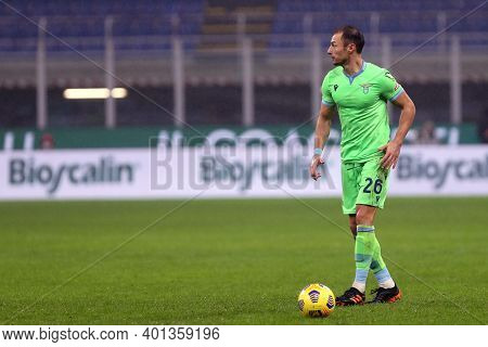 Milano, Italy. 23th December 2020. Stefan Radu Of Ss Lazio  During The Serie A Match Between Ac Mila