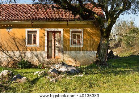 Old Rural House Facade