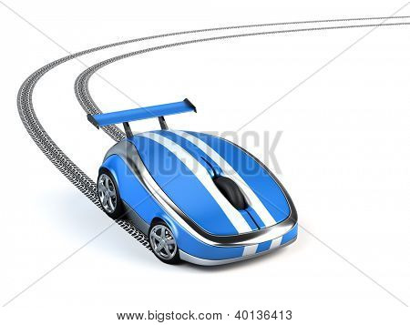 Computer mouse on wheels concept