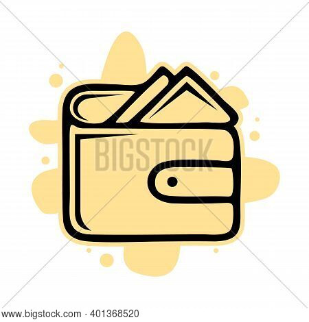 Wallet Icon Isolated On White Background From Tab Bar And Settings Collection. Wallet Icon Trendy An