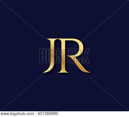 Jr Alphabet Modern Logo Design Concept Company