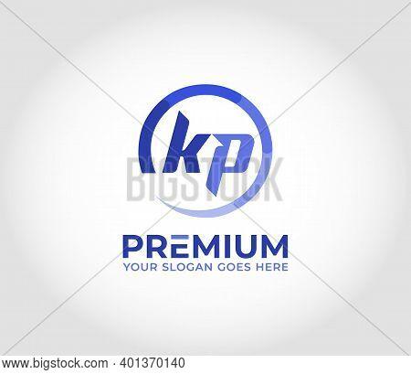 Kp Alphabet Modern Logo Design Concept Company