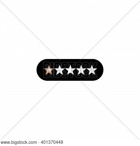 Black Icon Review, Rating, Rate Sign. Vector Illustration Eps 10.