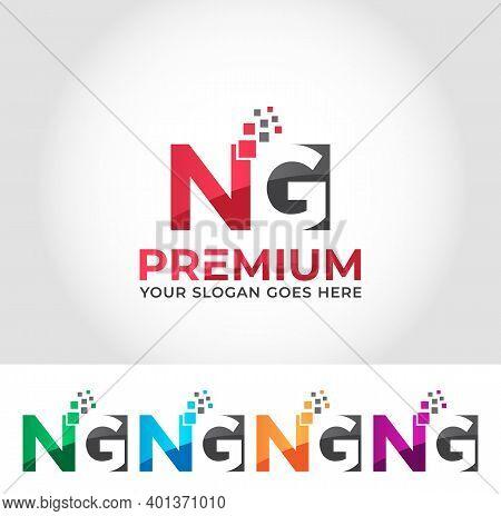 Ng Alphabet Modern Logo Design Company Concept
