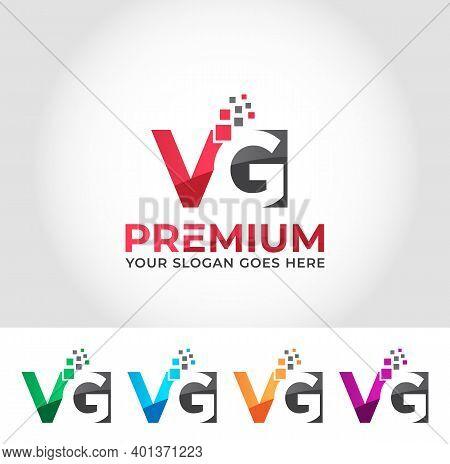 Vg Alphabet Modern Logo Design Company Concept