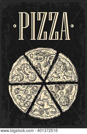 Set Slice Pizza Pepperoni, Hawaiian, Margherita, Mexican, Seafood, Capricciosa.