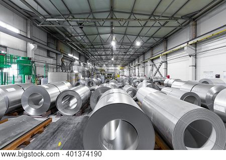 Modern Industrial Factory For The Production Of Steel - Machinery, Interior And Equipment Of The Pro