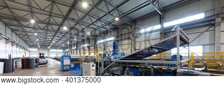 Automated Production Line In Modern Solar Silicon Factory.