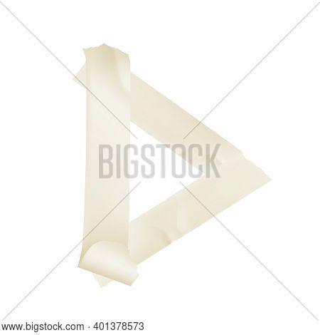 Sticky Adhesive Tape Realistic With Tape Of White Colors Vector Illustration