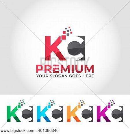Kc Alphabet Modern Logo Design Concept Company