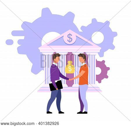Banking Deals And Offers Flat Vector Illustration. Customized Solutions Isolated Metaphor On White.