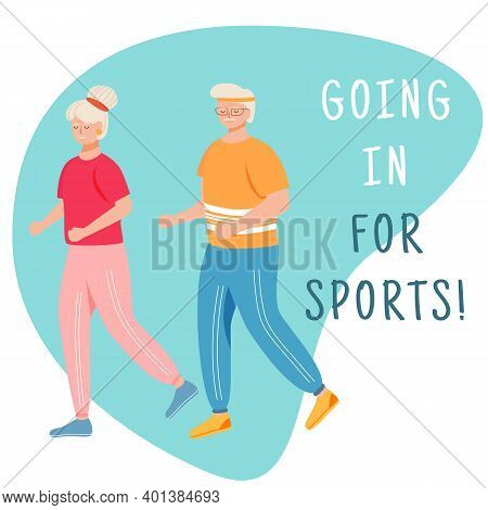 Going In For Sports Social Media Post Mockup. Retired People. Physical Activity. Advertising Web Ban