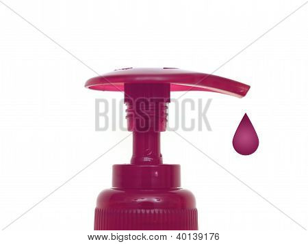 Soap dispenser isolated against a white background poster