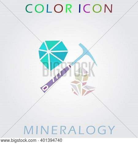 Color Icon Of Mineralogy And Geology. Premium Quality Color Symbol Collection.