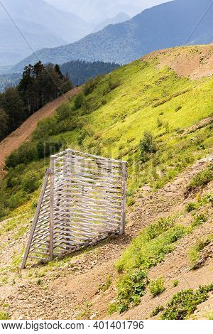 Avalanche Cutter - Engineering Device To Reduce Damage From Avalanches In The Mountains.