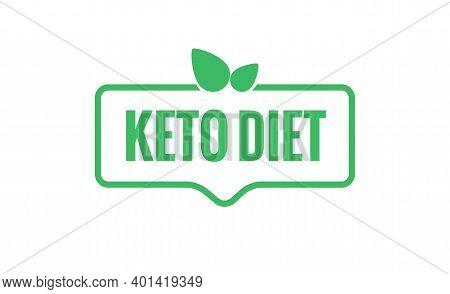 Keto Icon Badge Logo. Ketogenic Vector Diet Stamp Isolated Health Symbol Backgrund