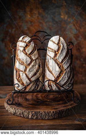 Pain De Méteil, A French Rustic Sourdough Bread