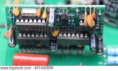 Close Up Detail Of A Circuit Board