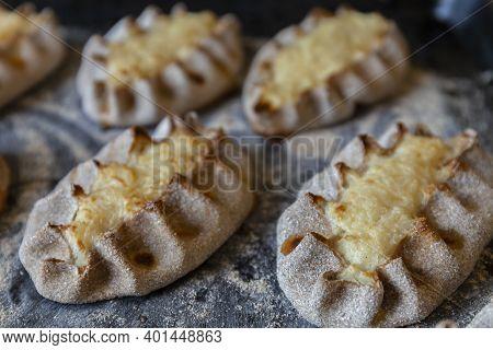 Finnish Traditional Pasties - Karelian Pies From Region Of Karelia.