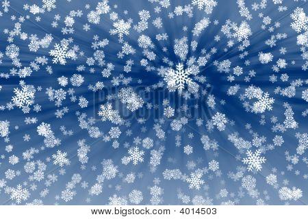 Snow Flakes Background.
