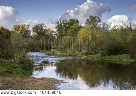 Clean River In The Middle Of The Countryside