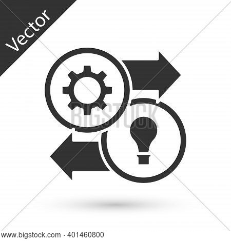 Grey Human Resources Icon Isolated On White Background. Concept Of Human Resources Management, Profe