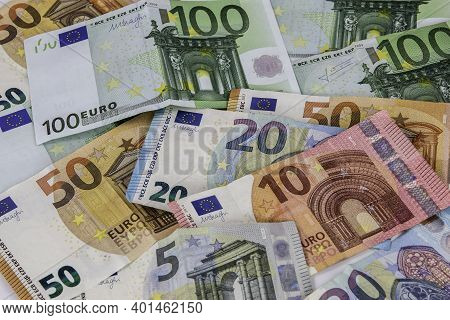 A Scads Of Money Made Of Euro Banknotes