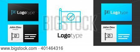 Blue Line Protest Icon Isolated On White Background. Meeting, Protester, Picket, Speech, Banner, Pro