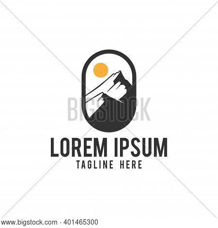 Mountain. Mountain Logo. Mountain Icon. Mountain Vector. Mountain Illustration. Mountain Design. Mou