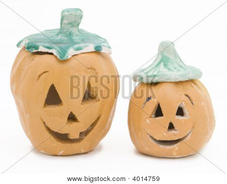 Kid-Crafted Clay Jack-O-Lanterns
