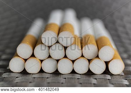 Cigarette Close-up. Quitting Smoking Is The Single Easiest Way To Avoid Heart Disease.