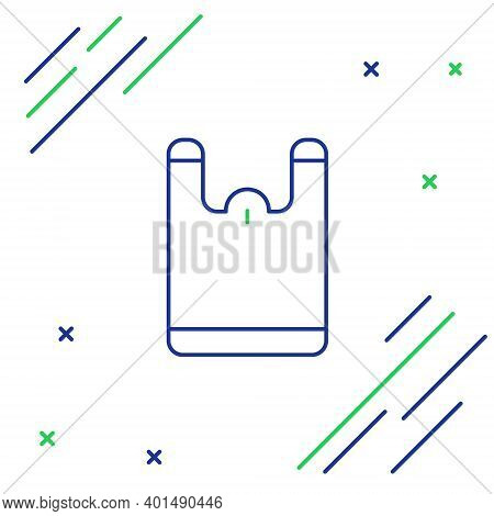 Line Plastic Bag Icon Isolated On White Background. Disposable Cellophane And Polythene Package Proh