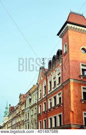 Fragment Of The Facade Of Historic Tenement Houses In Poznan