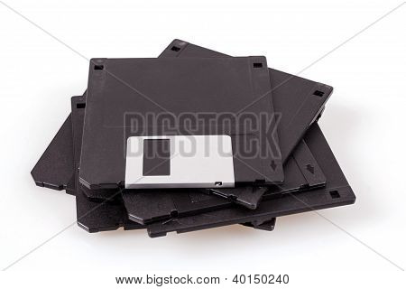Stack Of Old Diskettes