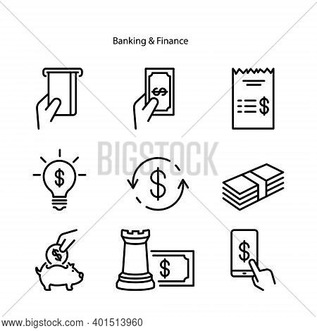 Banking And Finance Icon Isolated On White Background From Finance And Business Collection. Banking