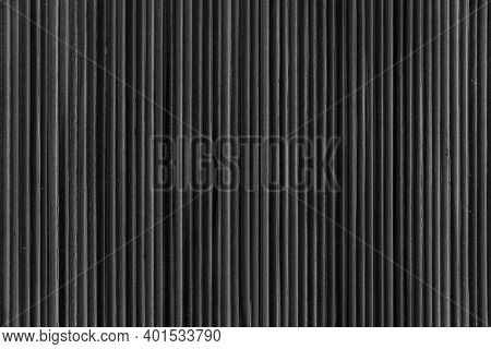 Bamboo Wall Or Bamboo Fence Texture. Old Black Tone. Natural Bamboo Fence Texture Background
