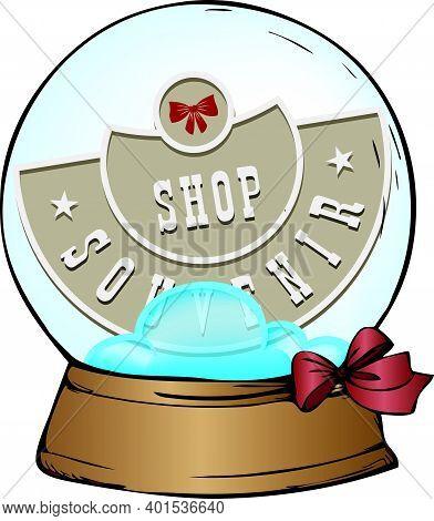 Souvenir Gift Ball For A Souvenir Shop. Vector Illustration.
