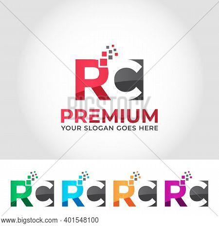 Rc Alphabet Modern Logo Design Concept Company