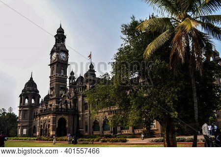 Kolhapur, Maharashtra, India- December 14th 2019; Picture Of Popular Palace In Kolhapur City New Pal